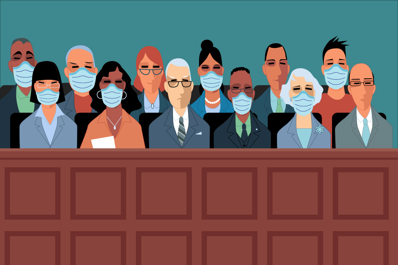 Judges Try To Balance Legal Rights And Courtroom Health