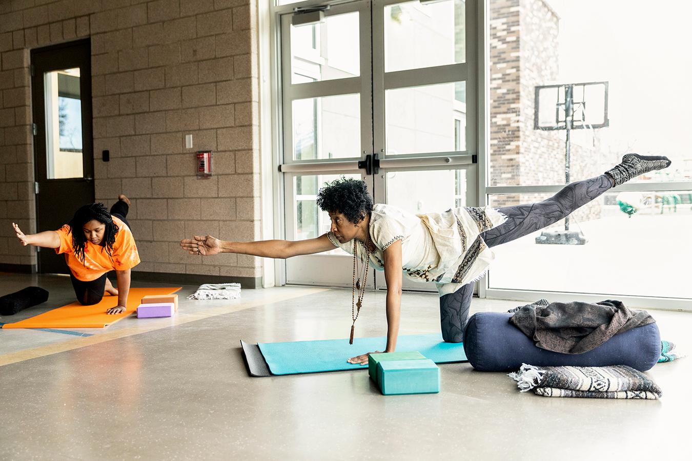 Namaste Noir Yoga Co Op Seeks To Diversify Yoga To Heal Racialized Trauma Kaiser Health News