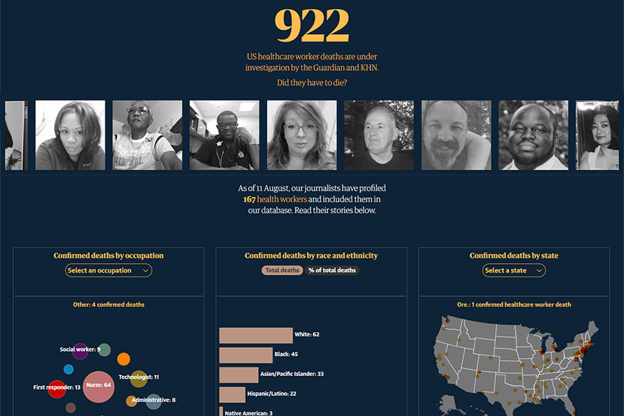 Lost on the Frontline: Explore the Database