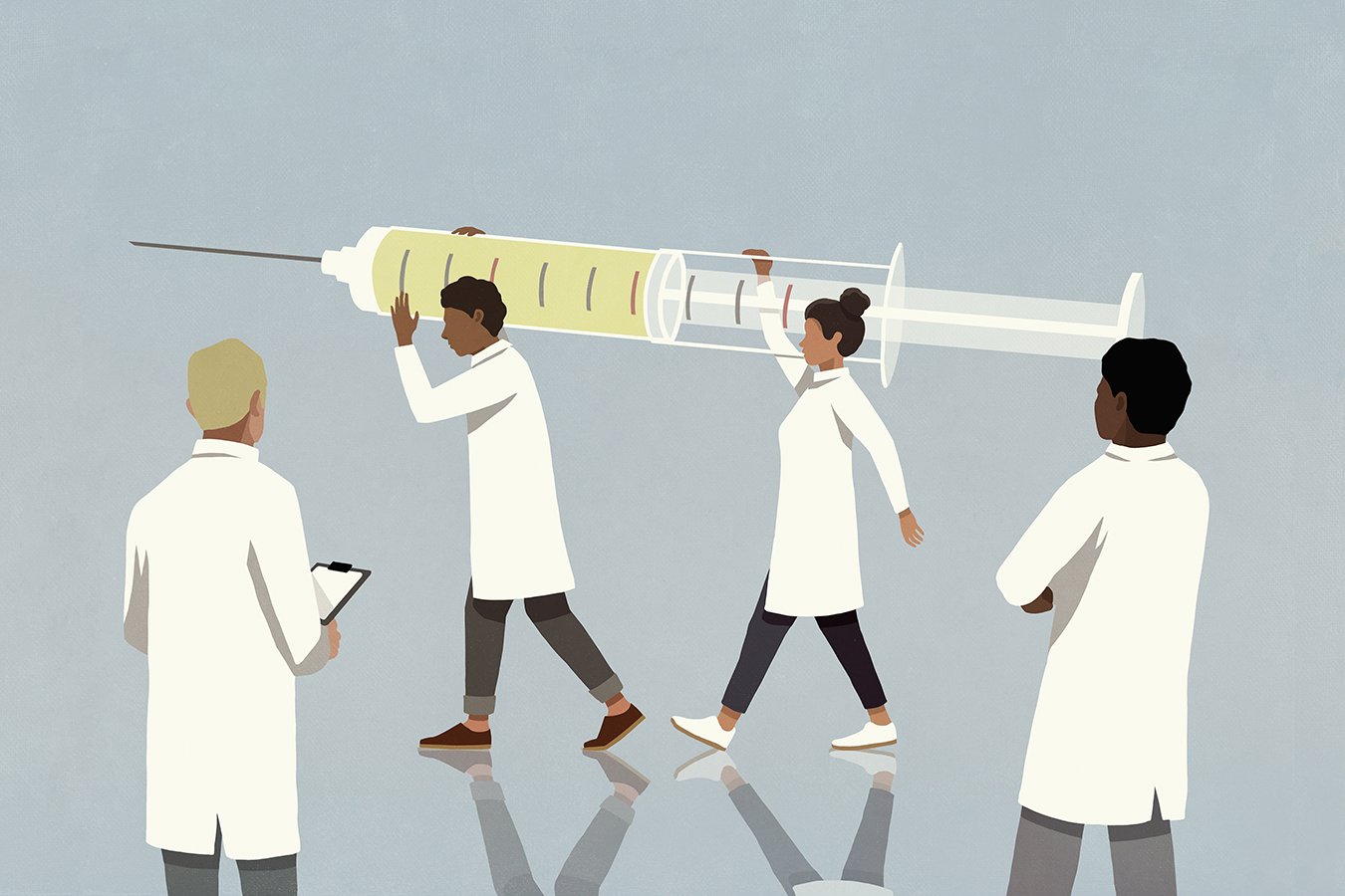 Hospitals Scramble to Prioritize Which Workers Are First for COVID Shots