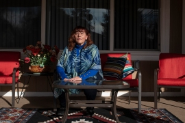 Portrait of Stephanie Salazar-Rodriguez at her home