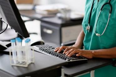 computer and nurse